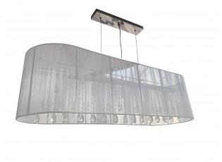 Bílý oválný lustr Venezia - 110*30 cm