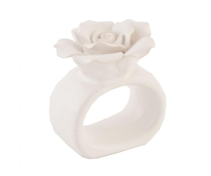 Kroužek na ubrousky květ - pr 6 cm
