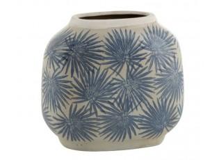 Keramická váza s modrými květy Blaw - 24*12,5*22 cm