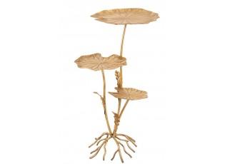 Zlatý kovový odkládací stolek ve tvaru květiny Plant - 55*45*85cm