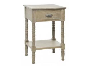 Dřevěný noční stolek s patinou Swum - 48*40*75 cm
