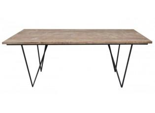 Dřevěný jídelní stůl s kovovou konstrukcí Chesty - 200*90*75cm