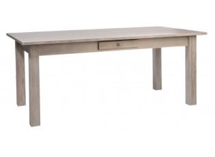 Dřevěný jídelní stůl se šuplíčkem Jerome - 180*90*79cm