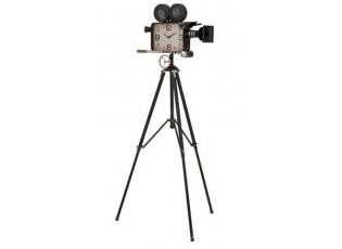 Hodiny v designu retro kamery na stativu - 70*70*153 cm