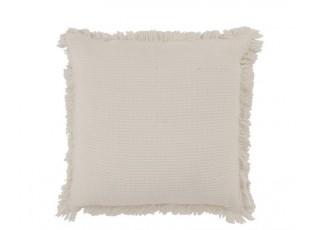 Krémový bavlněný polštář s třásněmi Fringe - 45*45cm