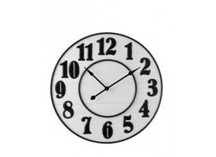Velké nástěnné hodiny v bílo-černém provedení Barbe - Ø 92*6,3 cm