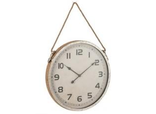 Závěsné nástěnné hodiny na jutovém provazu Dionne - 60,5*7*92 cm