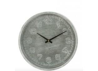 Industriální nástěnné kovové hodiny Méraud - Ø 39*5,5 cm