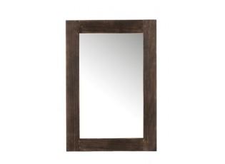 Nástěnné zrcadlo v tmavě hnědém dřevěném rámu Fleuretta - 80*55*2 cm