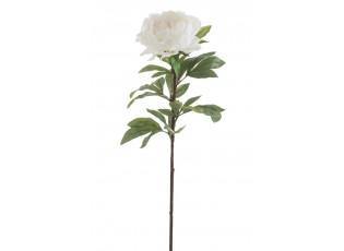 Bílá dekorační květina Pivoňka - 20*90 cm