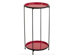 Červený kovový odkládací stolek Cerise - 32*8*60 cm