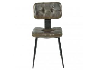 Židle s hnědým sedákem a kovovou konstrukcí Elianor- 43*46*84 cm