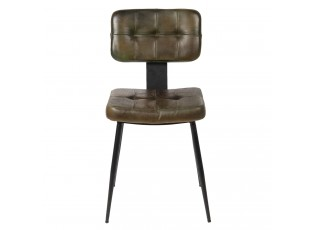 Jídelní židle se sedákem z umělé kůže Alienor - 43*46*84 cm