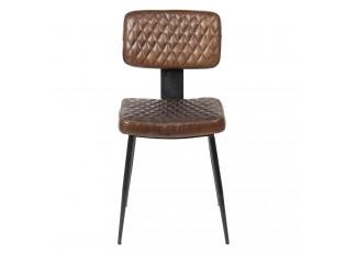 Židle Alienor se vzorovaným sedákem a kovovu konstrukcí - 43*46*84 cm