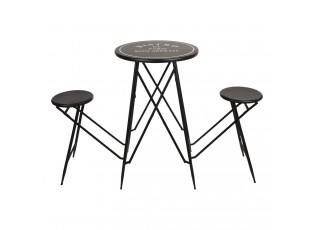 Set bistro stolku s židlemi Bistro De Paris - Ø 61*101 cm