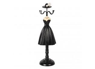 Stojánek na šperky v designu černých šatů Robe - 10*8*33 cm