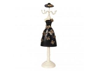 Stojánek na šperky v designu černých šatů s motýly Robe - 9*8*34 cm
