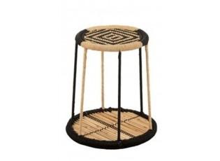 Oboustranný bambusový odkládací stolek Gigi - Ø 38*39 cm