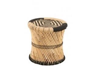 Bambusová stolička se vzorem Gigi - Ø 40*40 cm