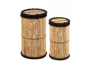 Sada 2 košů z bambusového dřeva Gigi - Ø 40*72 cm