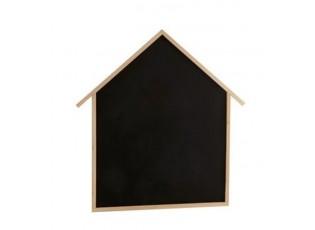 Křídová tabule ve tvaru domu s dřevěným rámem - 110*2*115,5 cm