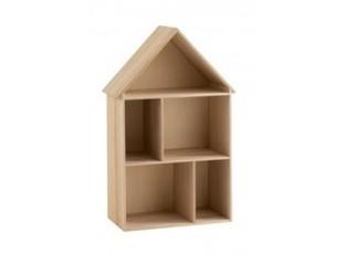 Dětská polička na hračky ve tvaru domku Fleurette - 50*25,5*79,5 cm