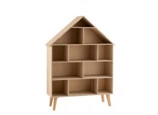 Regál – domeček pro panenky v přírodním provedení Fleurette - 84*27,5*115 cm