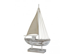Dřevěná dekorace lodi Fock S - 25*6*42 cm