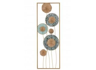 Nástěnná kovová dekorace květy - 31*5*90 cm