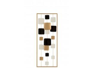 Nástěnná kovová dekorace square - 28,5*3*74 cm