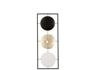 Nástěnná kovová dekorace kruhy - 28*3*74 cm