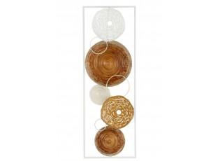 Nástěnná kovová dekorace kruhy - 31*89,5*3 cm