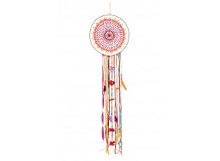 Barevný lapač snů s korálky a peříčky Feathers - Ø 35*146cm