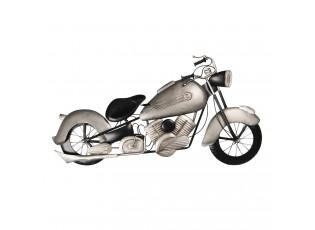 Nástěnná dekorace stříbrná motorka - 98*6*54 cm