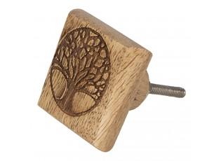 Dřevěná úcnytka se stromem - 4*2*4 cm