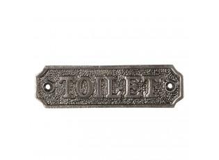 Kovová cedulka Toilet - 11*3 cm