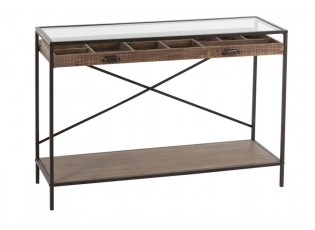 Dřevěný konzolový stolek se šuplíkem - 122*42*82 cm