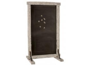 Bílá stojací magnetická tabule z recyklovaného dřeva Adelais - 100*10*160cm