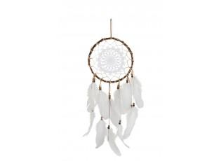 Přírodní lapač snů s peříčky Feathers - Ø 20*56cm