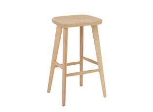 Přírodní dřevěná barová stolička Scandinavian - 47*41*76cm