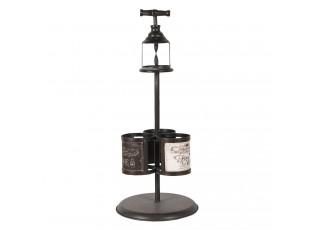 Kovový stojan Brut na 3 láhve vína - Ø 21*55 cm
