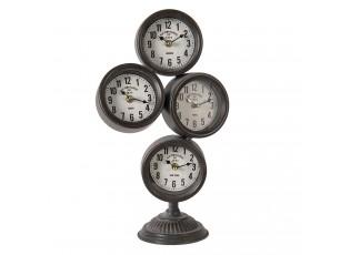 Kovové vintage hodiny se světovými časy Old Town Clocks - 24*13*43 cm / 4*AA