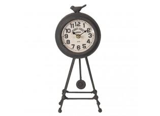 Kovové vintage stolní hodiny Market Street - 14*9*23 cm / 1*AA
