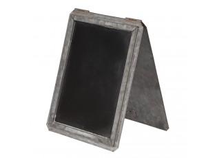 Křídová tabule v plechovém stojanu Tole - 16*2*24 cm