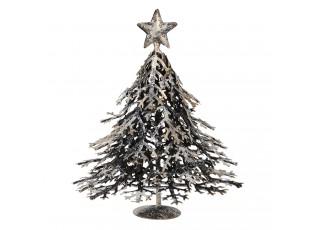 Plechová dekorace vánoční strom - 14*14*21 cm