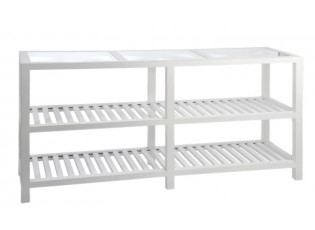 Bílý konzolový stolek Traverser - 160*46*78 cm