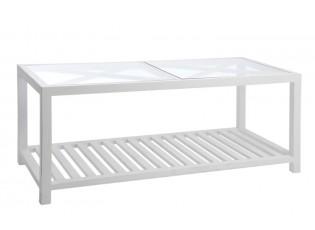 Bílý konferenční stolek Traverser - 110*50*45 cm