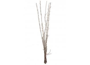 5ks dekorační dřevěné větvičky s glitry Champagne - 98cm