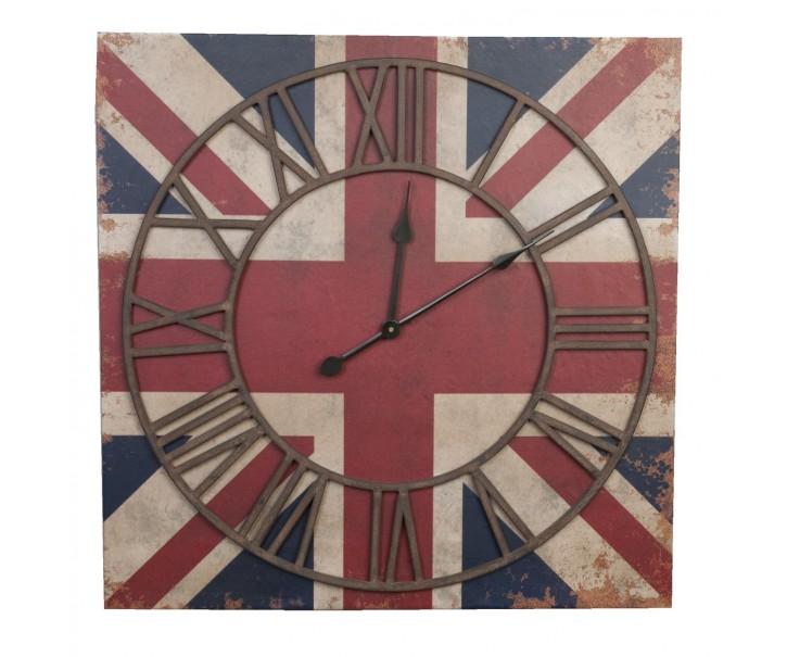 Hodiny s anglickou vlajkou - 70*5*70 cm