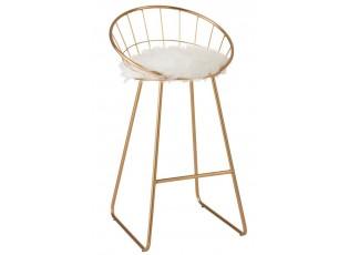 Zlatá kovová barová stolička Bar gold  - 52*51*100cm